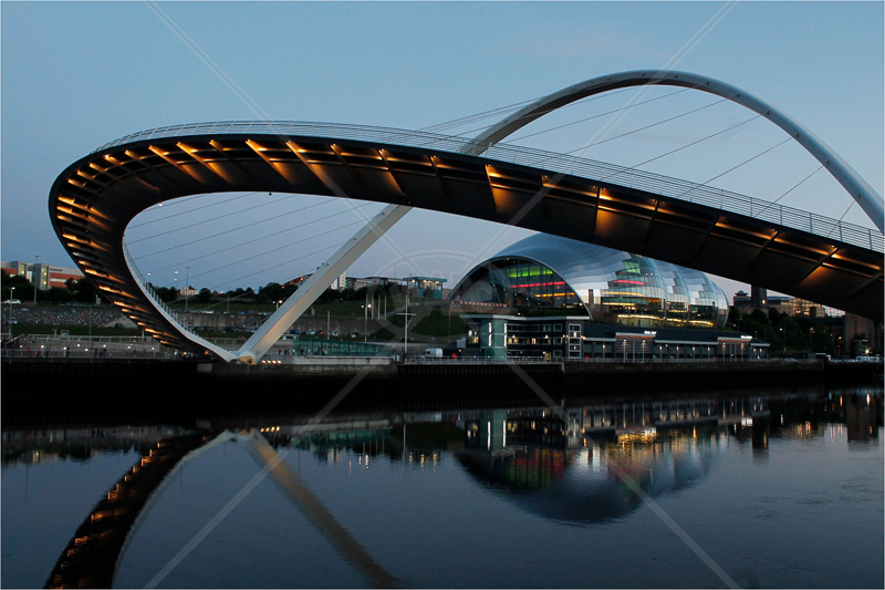 Millennium Bridge on Tyne by David Prestwood - HC (Int)