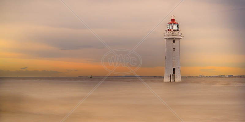 Perch Rock Lighthouse by Norman O'Neill - 2nd (ADV col)