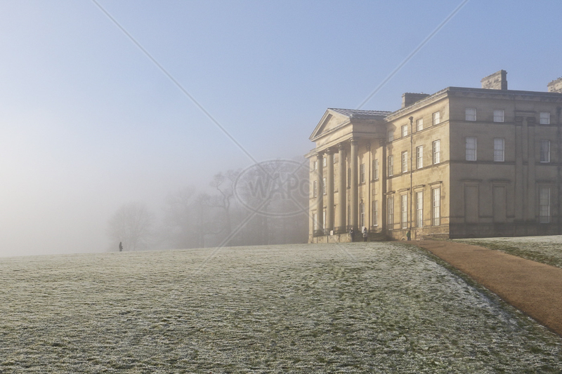 Attingham Hall on a Misty Morning by Peter Hodgkison - 1st (Int col)