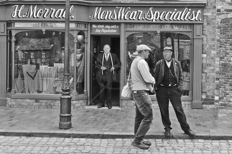Waiting for a Customer by Peter Hodgkison - C (Int mono)