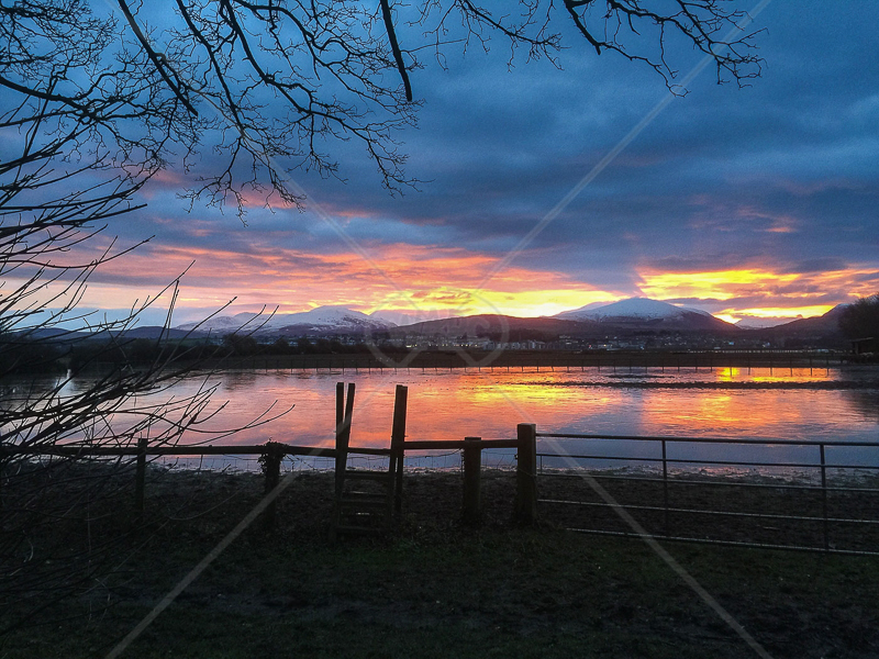 Winter Sunrise Across the Menai Straits by Janice Bannister - 2nd (mobile)