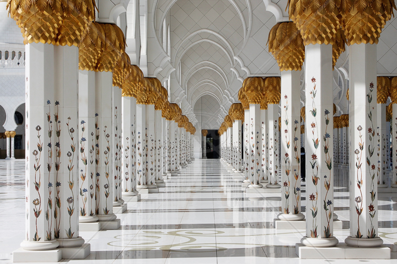Columns Within the Grand Mosque by David Prestwood - 3rd (Int)