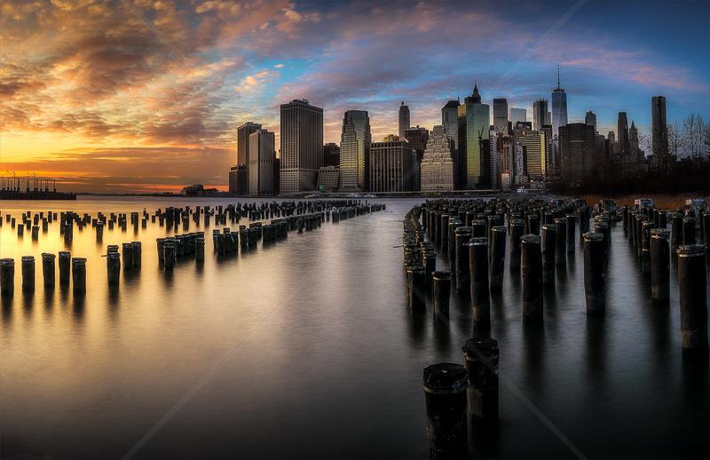 Manhattan Financial Skyline by Calvin Downes - 1st (PDI)