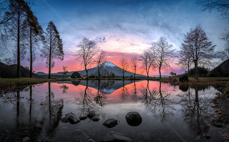 Sunrise Behind MT Fuji by Calvin Downes - C (PDI)