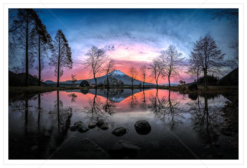 Sunrise Behind Mt Fuji by Calvin Downes - C (Adv col)