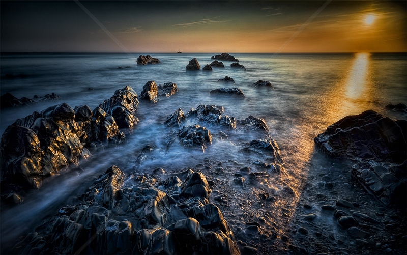 Sandymouth Sunset by Calvin Downes - C (Adv)