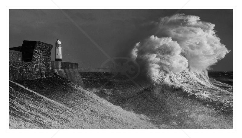 Storm Ophelia Hits Porthcawl by Alan Lees - HC (Adv mono)