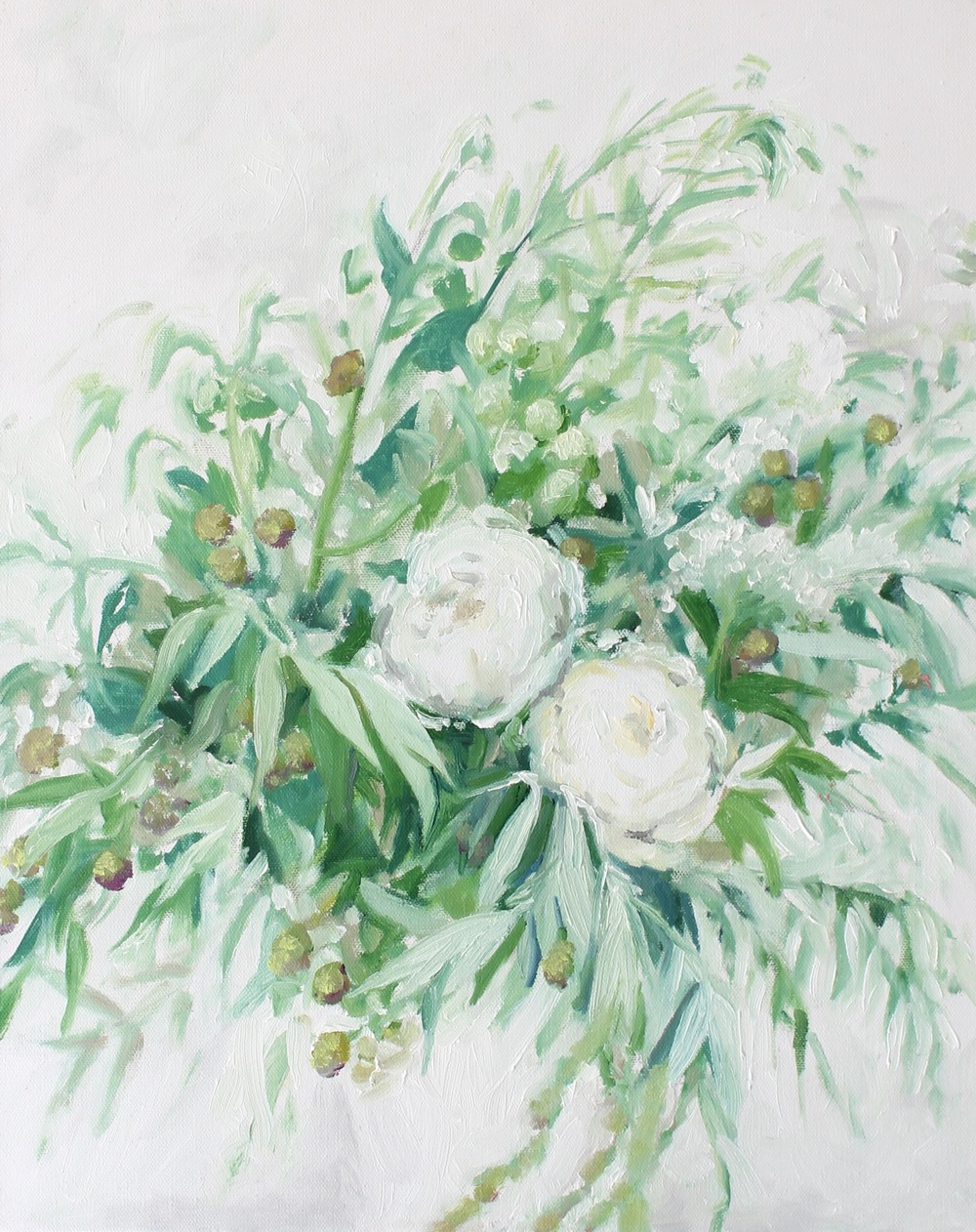 """""""Olive Branches I"""" painting by Jess Blazejewski"""