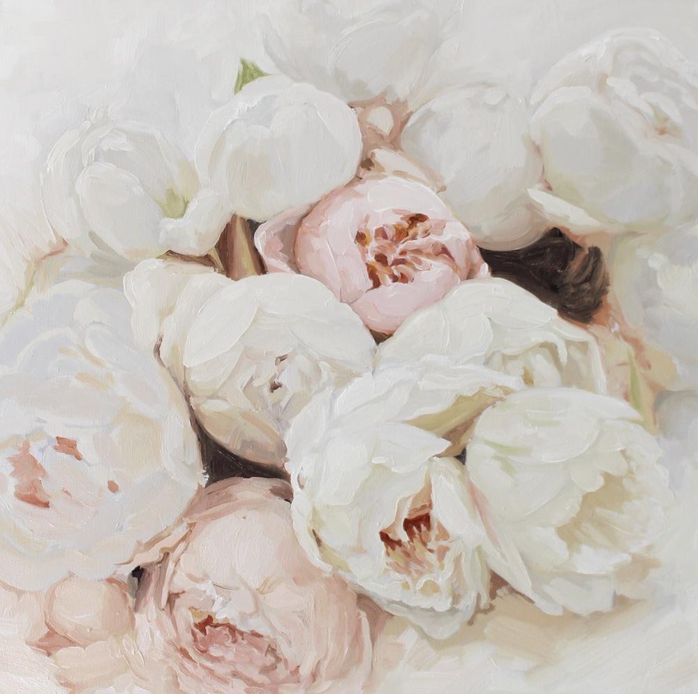 """""""Garden Roses I"""" painting by Jess Blazejewski"""