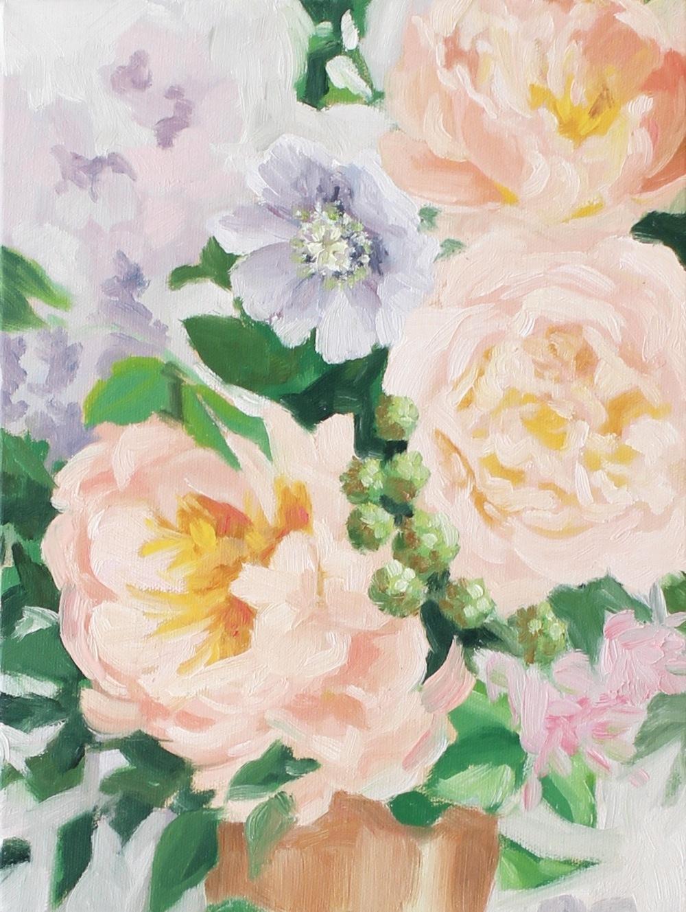 """""""Spring Arrangement"""" painting by Jess Blazejewski"""