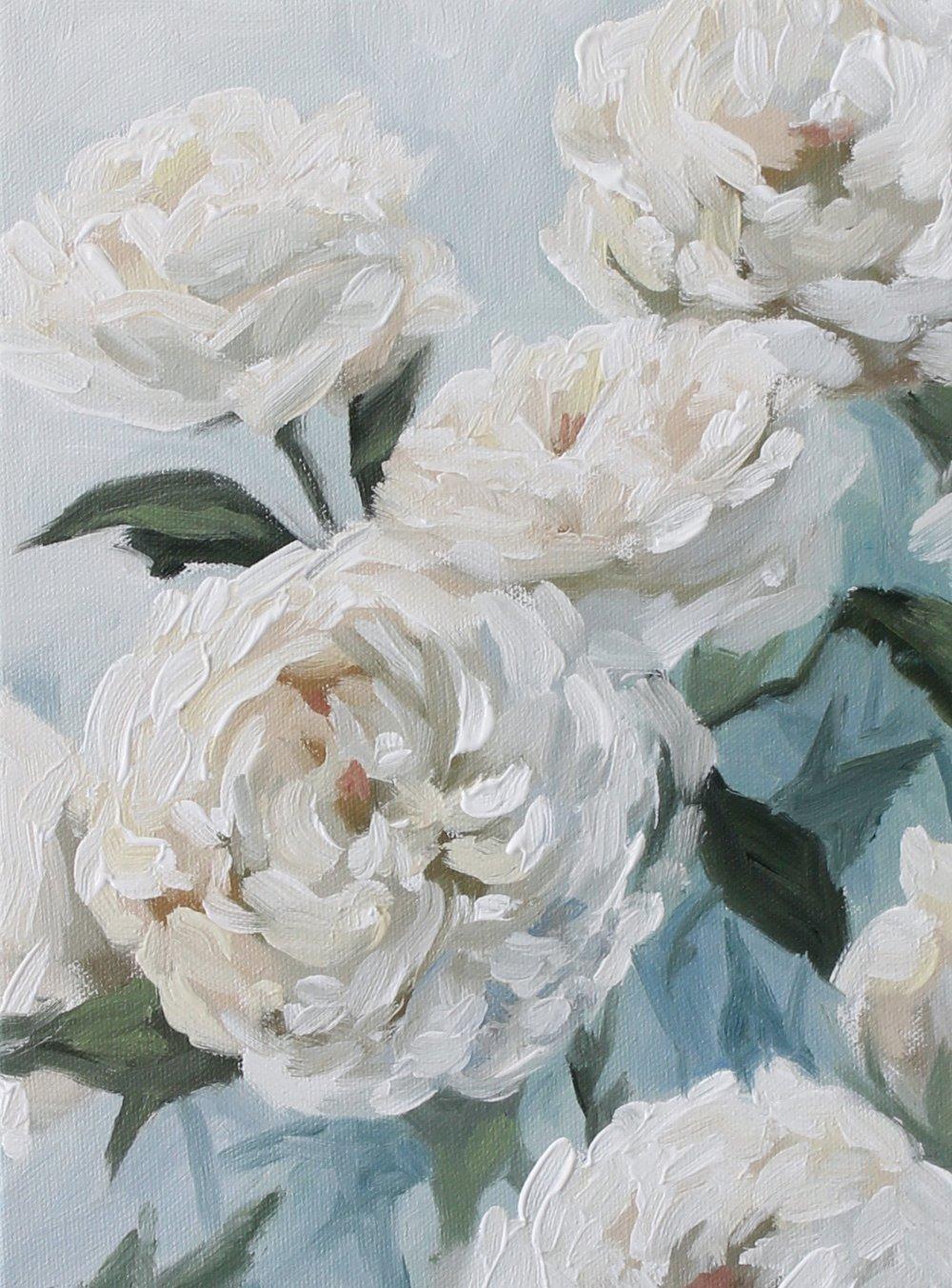 """""""White Garden Roses"""" by Jess Blazejewski"""