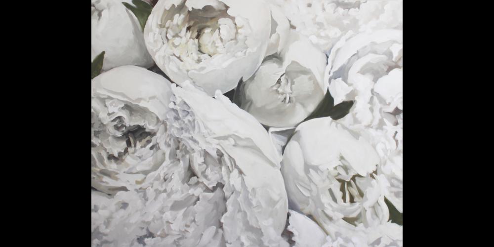 White Peonies I by Jess Blazejewski