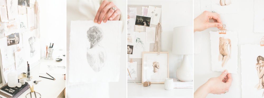 Jess Blazejewski studio. Photos by Ruth Eileen Photography
