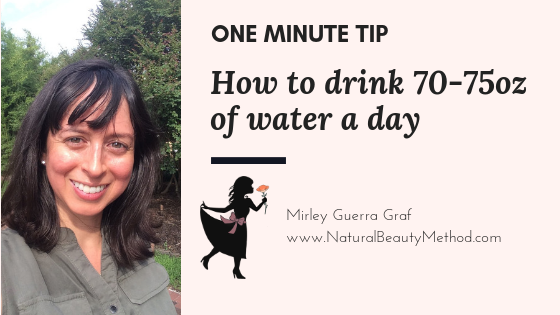 How to drink 70-75oz of water a day