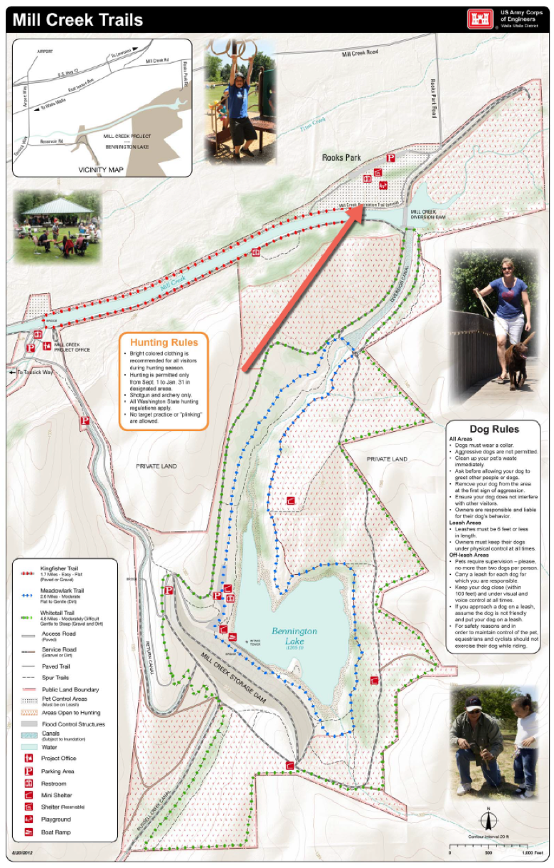 Bennington Lake Trail Map
