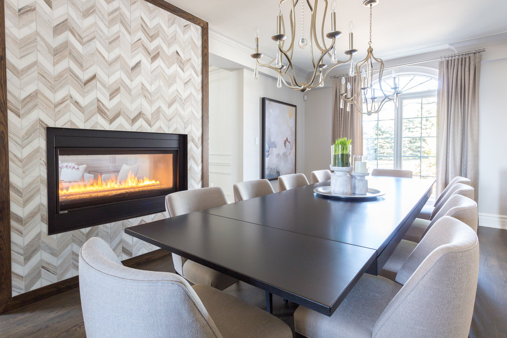 oakville-interior design-dining room-fireplace-robson hallford