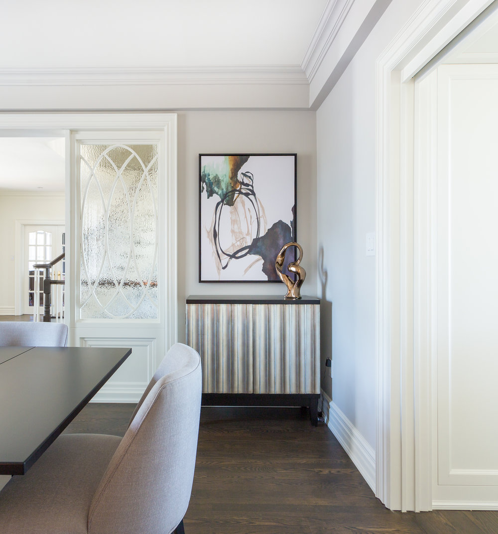 oakville-interior design-dining room-art-robson hallford