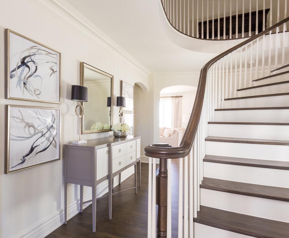 oakville-interior design-foyer-decor-console-art-robson hallford