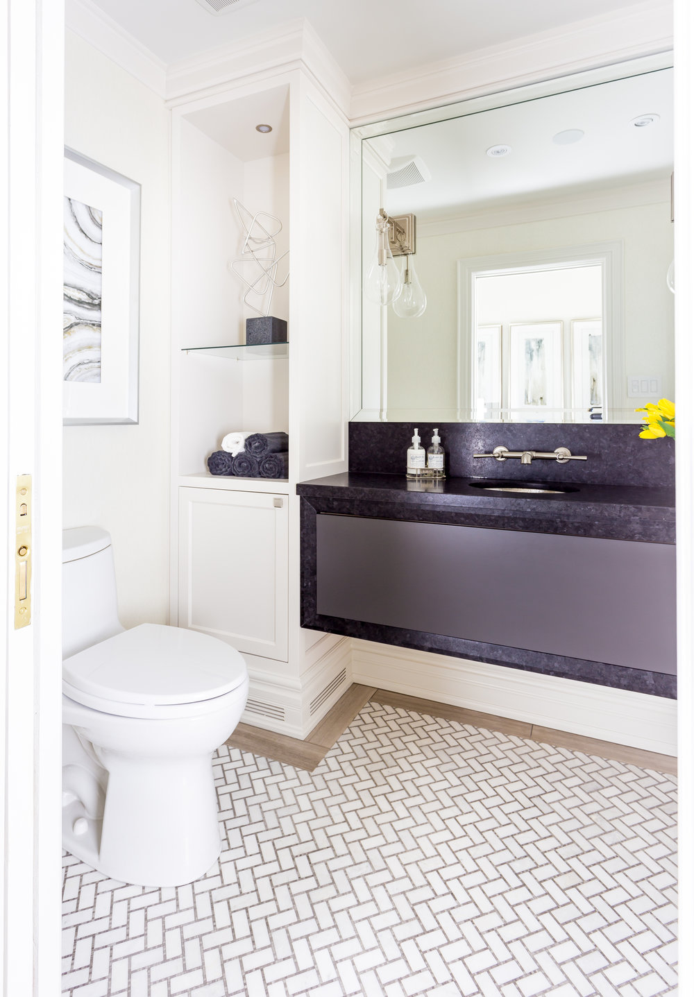 oakville-interior design-powder room-vanity-robson hallford