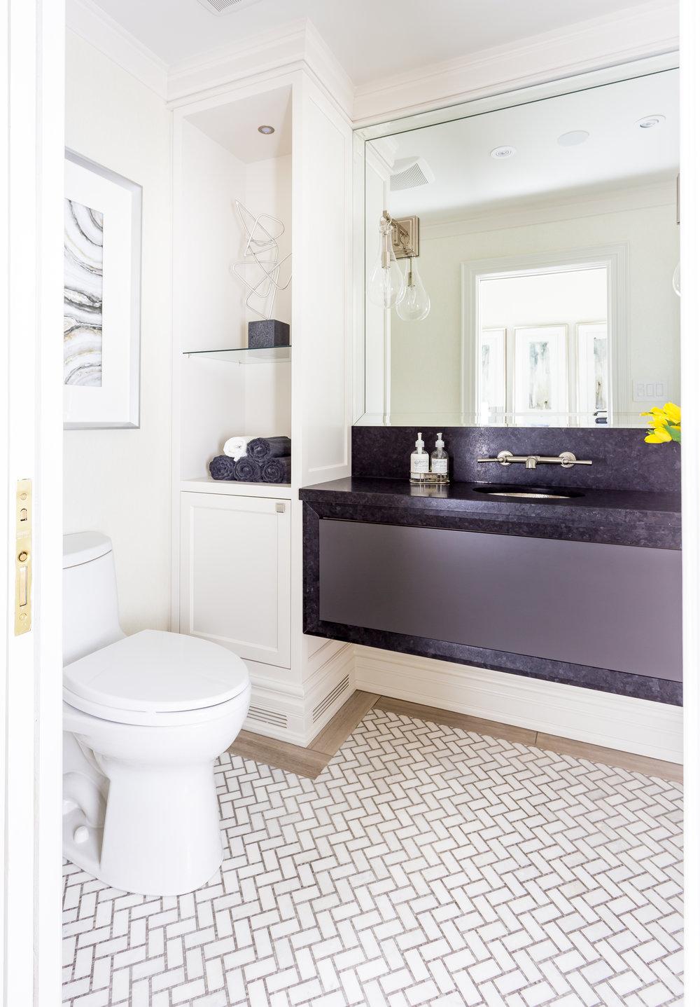oakville-interior design-powder room-vanity-robson hallford