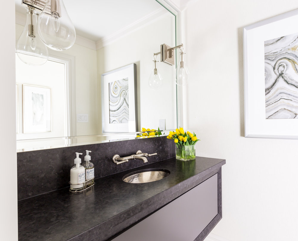 oakville-interior design-powder room-sconces-mirror-vanity-robson hallford