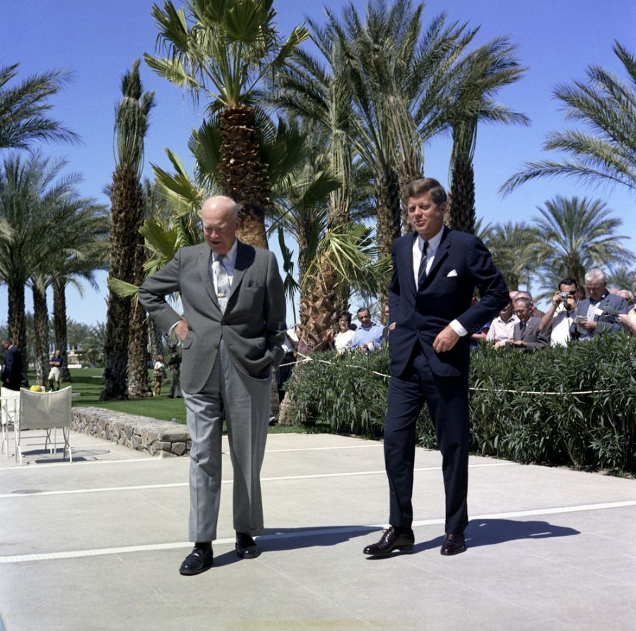 President Dwight Eisenhower and John Kennedy, 1960
