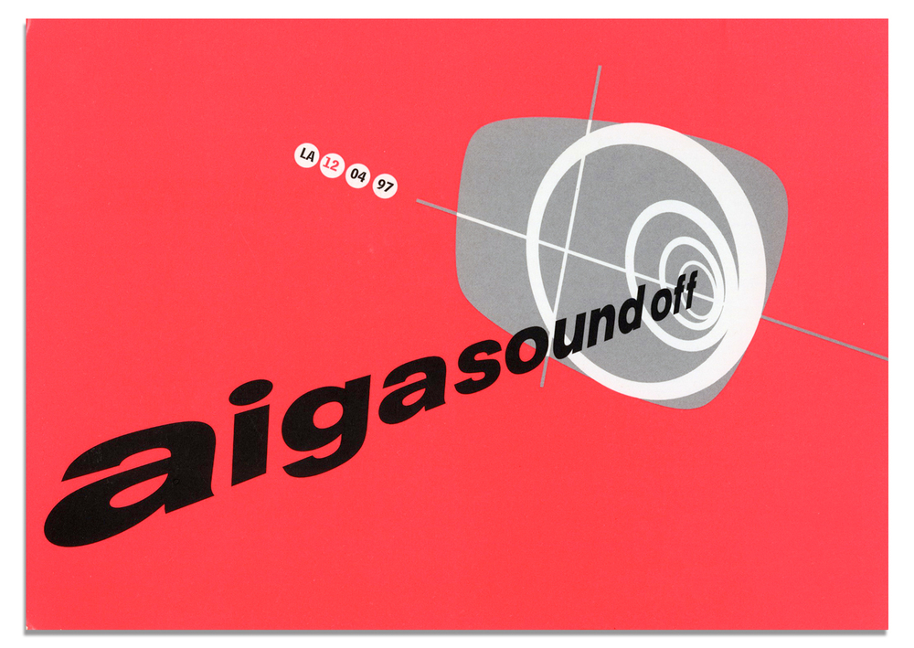 AIGA Sound-Off postcard