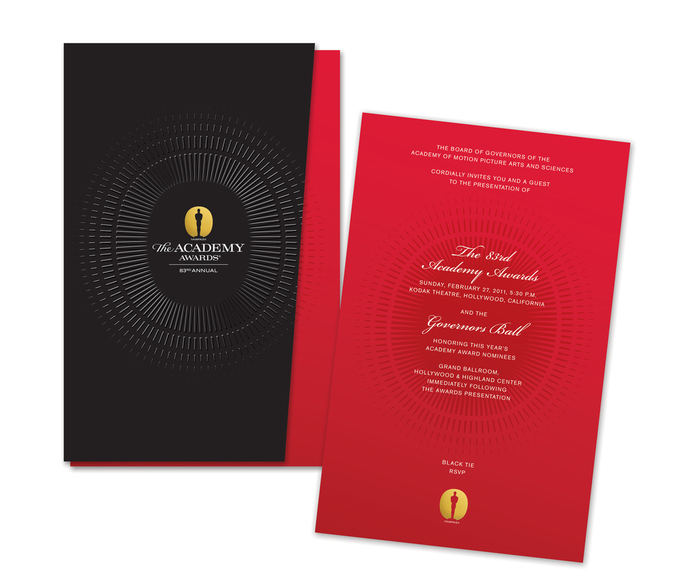82nd Annual Academy Awards Invitation