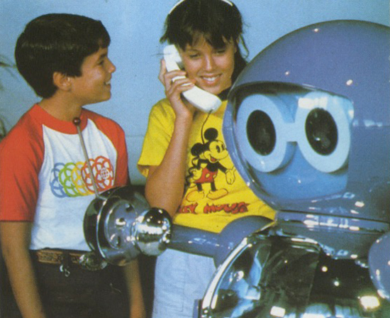 Epcot Center, calling the creepy robot on a land line, 1987