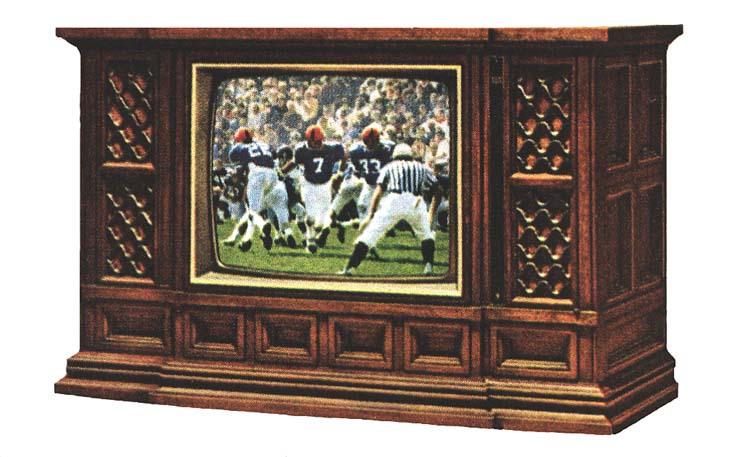 1974 Zenith Mediterranean style television console