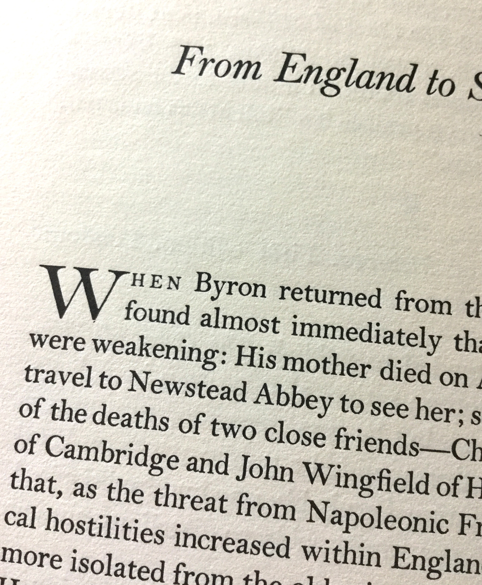Byron the Continent, The Carl H. Pforzheimer Library