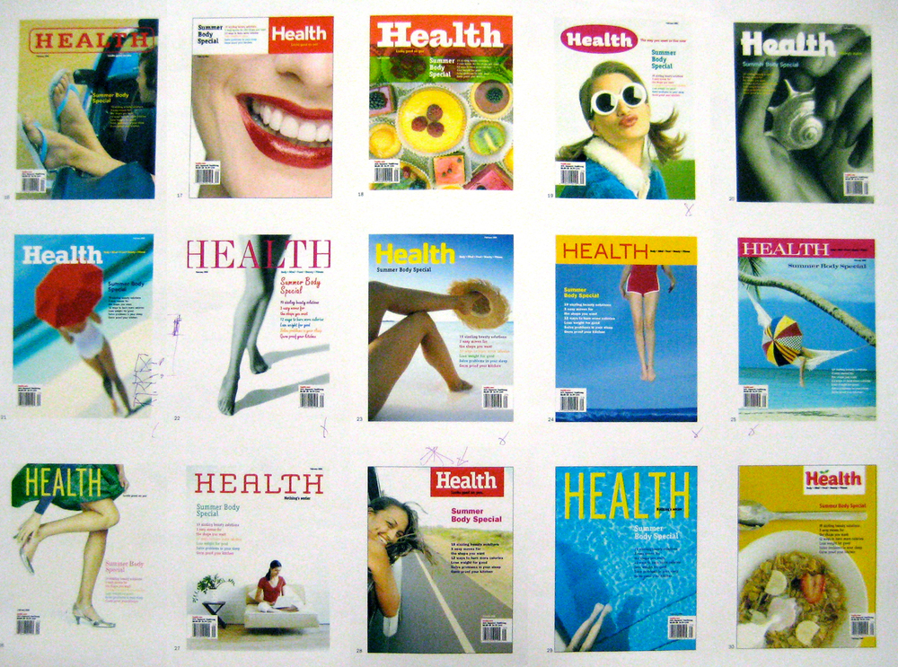 Health Magazine, cover studies