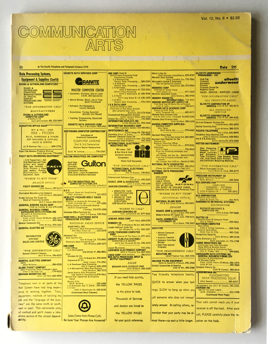 Communication Arts, 1971