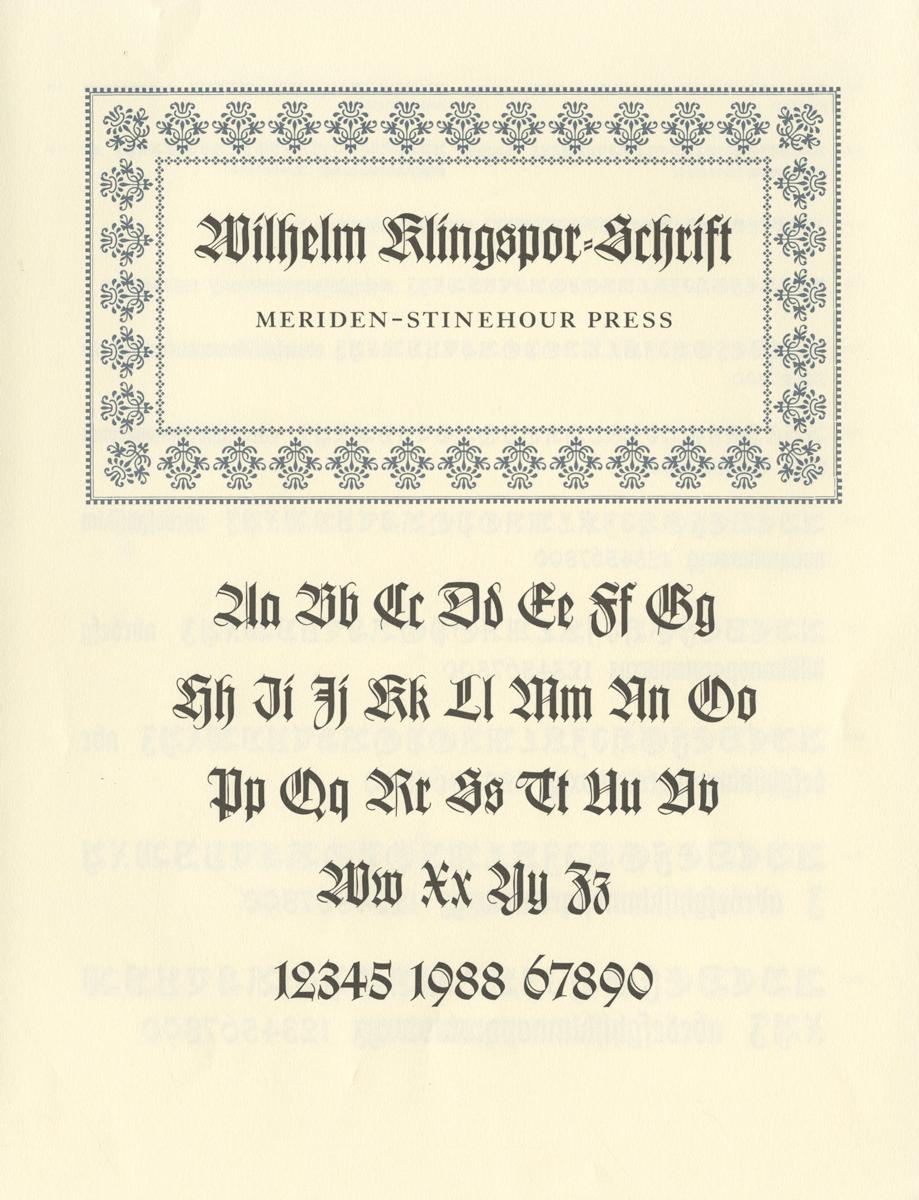 Wilhelm Klingspor Schrift