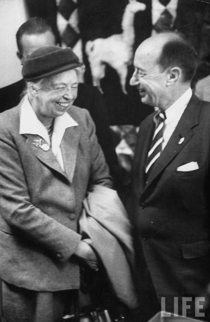 Eleanor Roosevelt and Adlai Stevenson Jr.