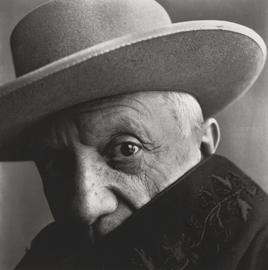 Portrait of Pablo Picasso at La Californie, Cannes, by Irving Penn, 1957