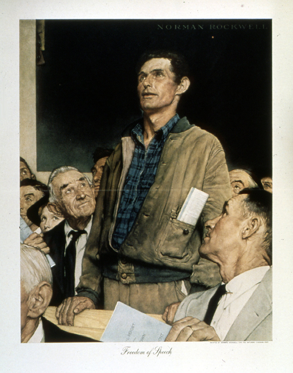 Norman Rockwell, Freedom of Speech, 1943