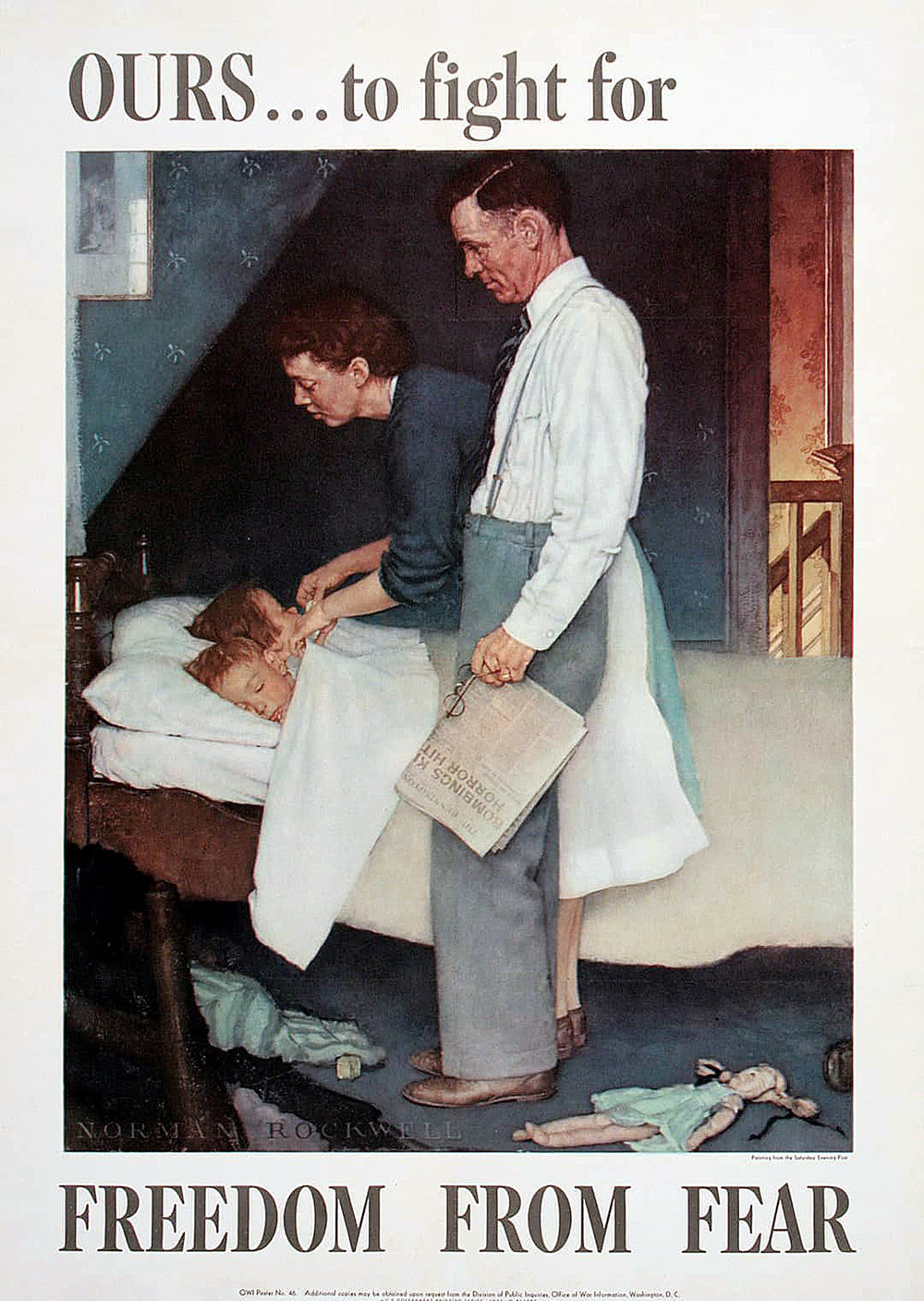 Norman Rockwell, Freedom from Fear, 1943