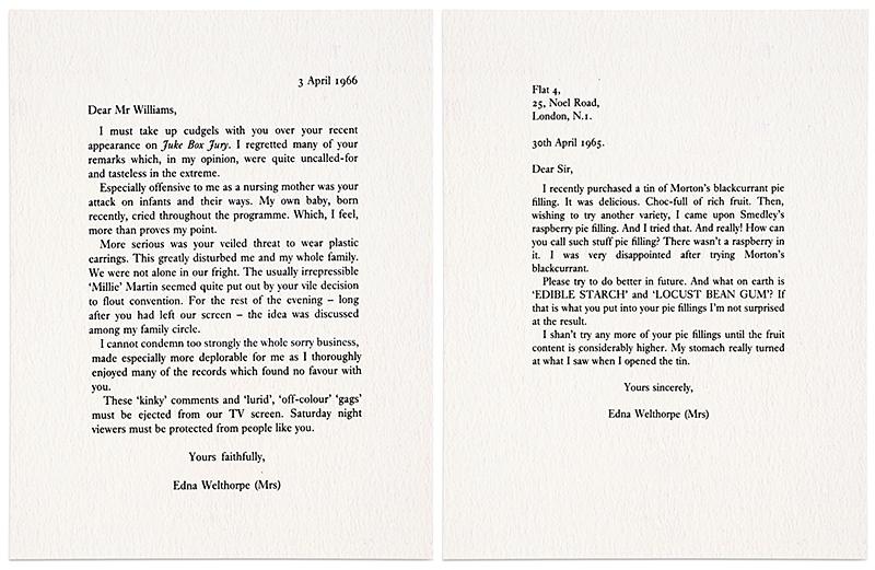 Edna Welthorpe letters. Joe Orton, 1965, 1966