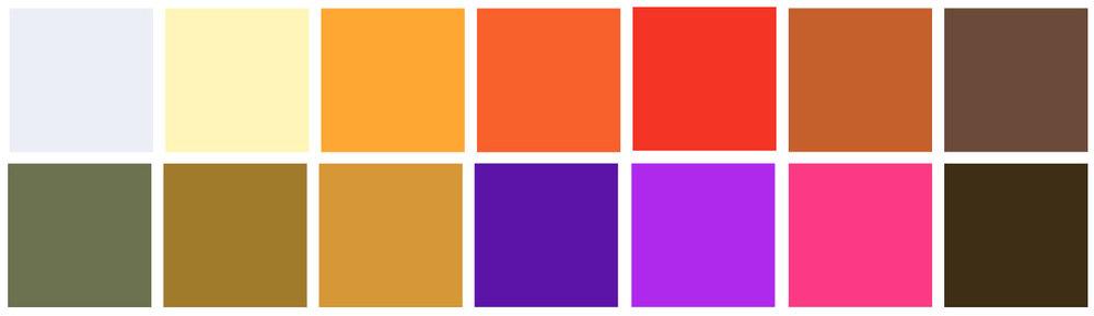 The full palette