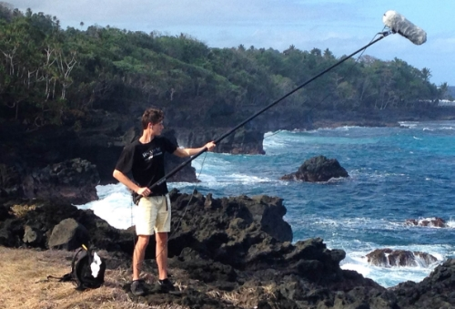 """Wind caught the cable"" - Recording Vuna blowhole in Taveuni, Fiji."