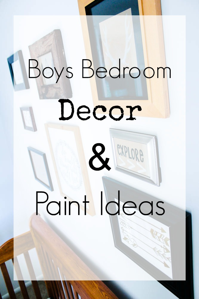 boys bedroom decor & paint ideas