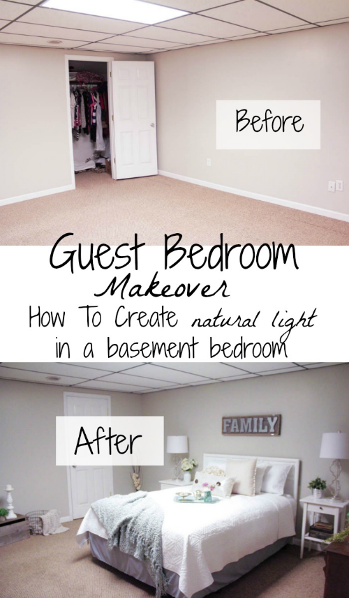 Guest Room Makeover: How To Create Natural Light In A Basement Bedroom