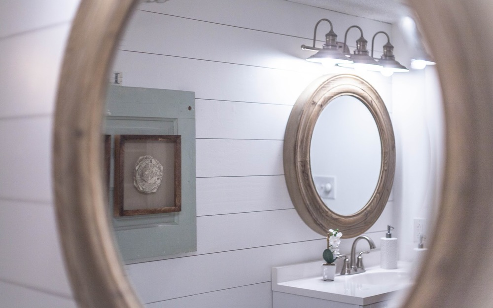Complete bathroom makeover with lowes tessa kirby blog for Bathroom remodel under 5k