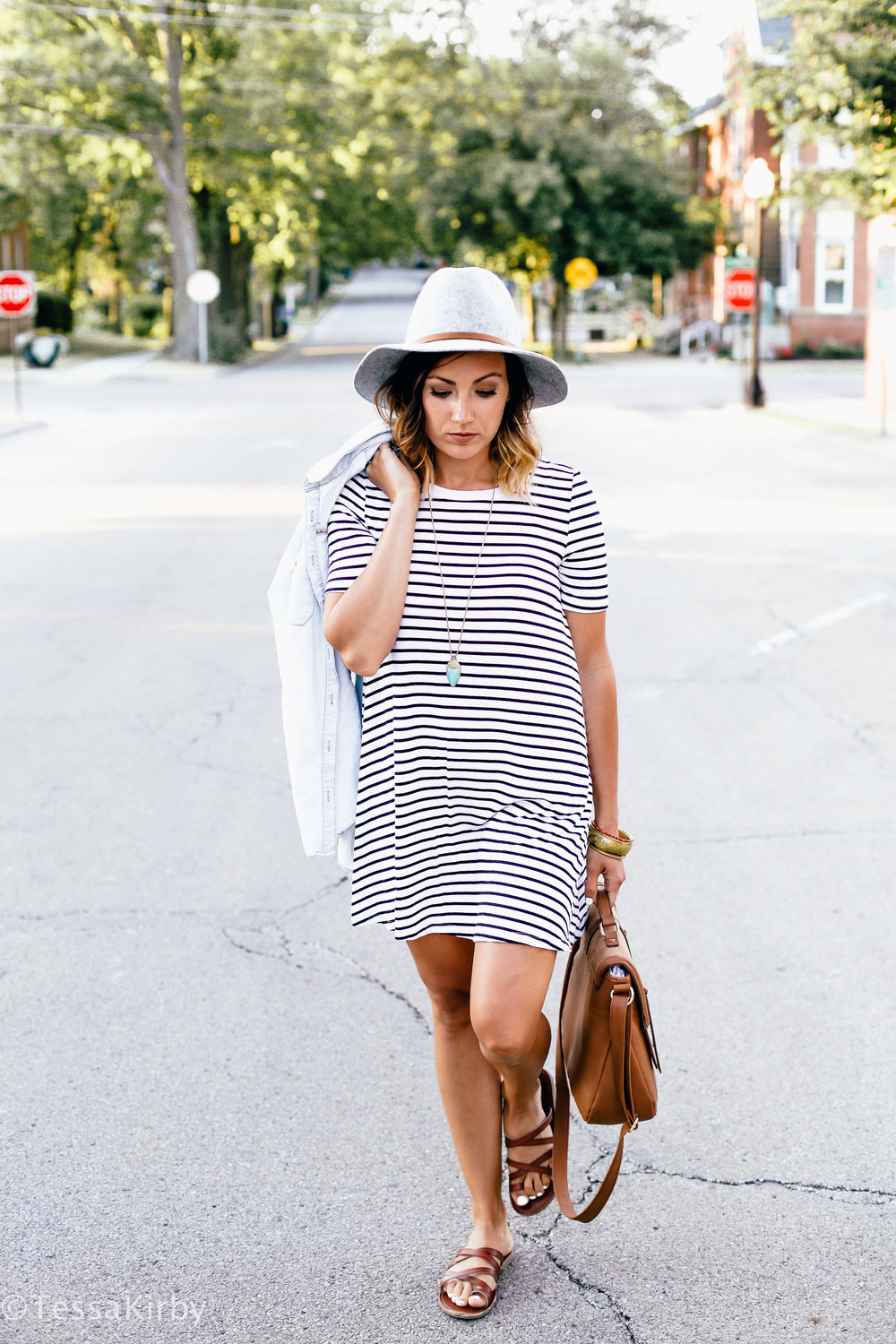 My Go To Stripe T-Shirt Dress