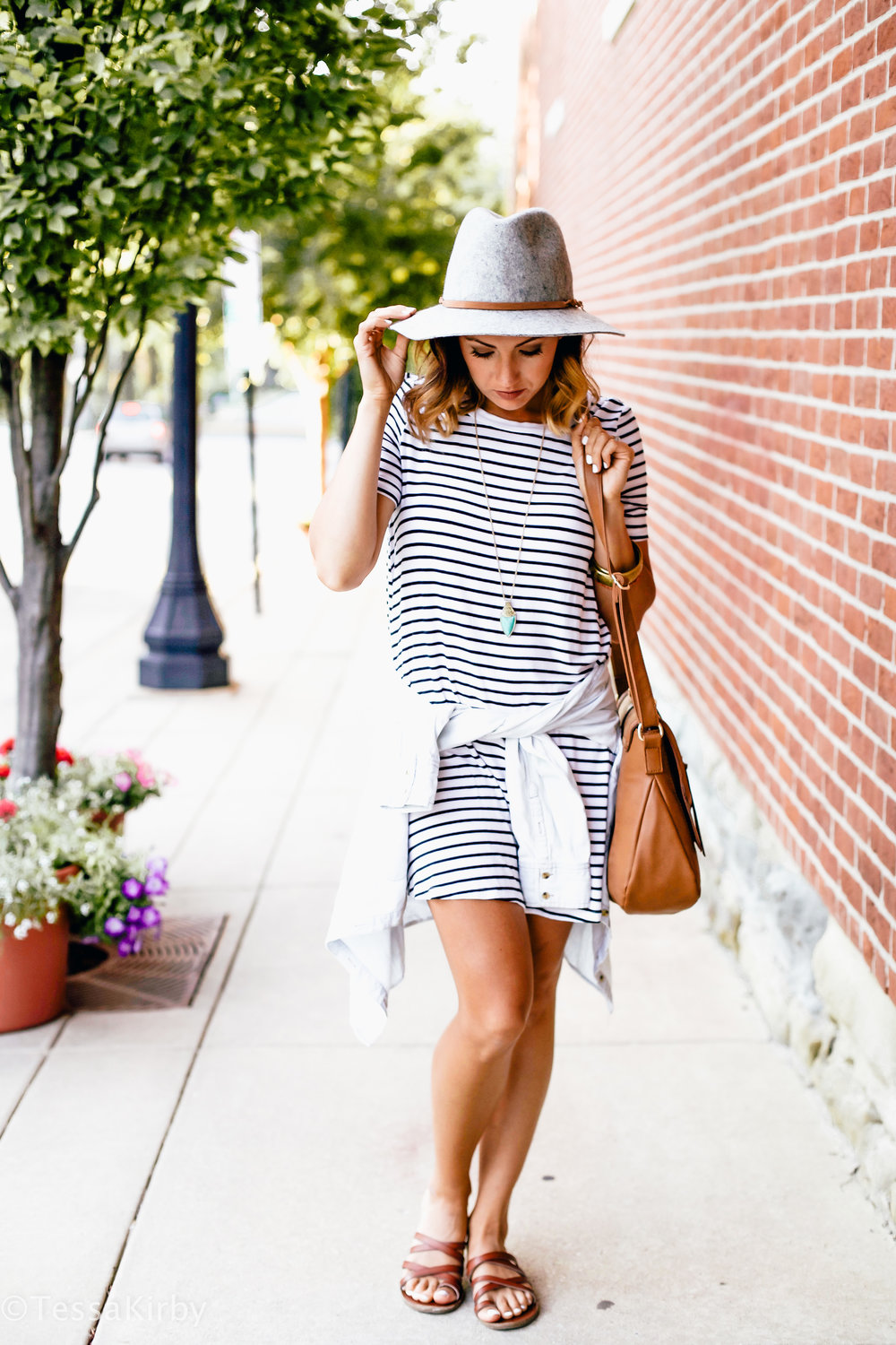 My Go To Stripe T-Shirt Dress -