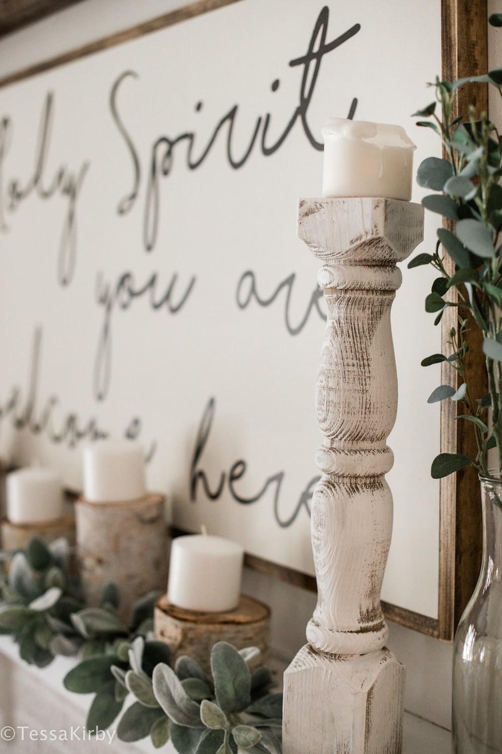 $12 Farmhouse Candlestick Hack