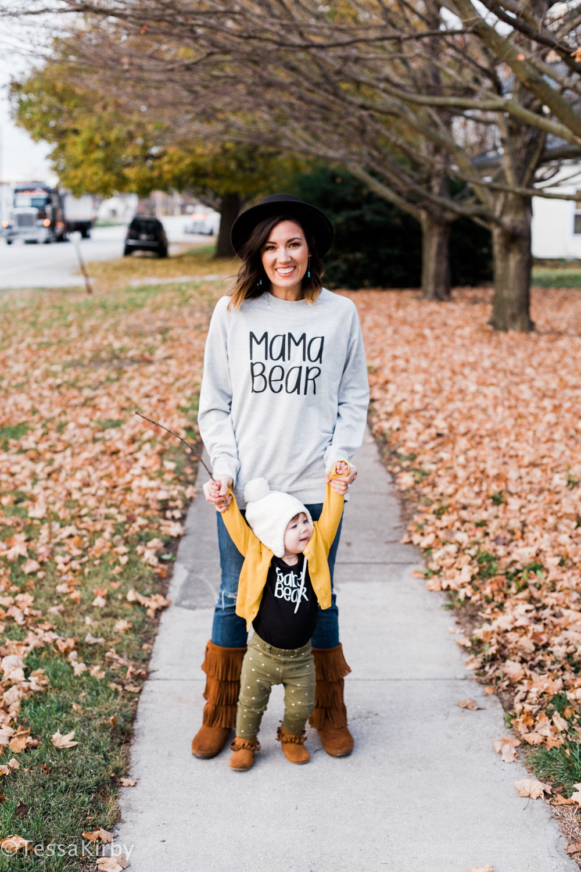 Mama Bear Sweatshirt  &  Baby Bear Onesie