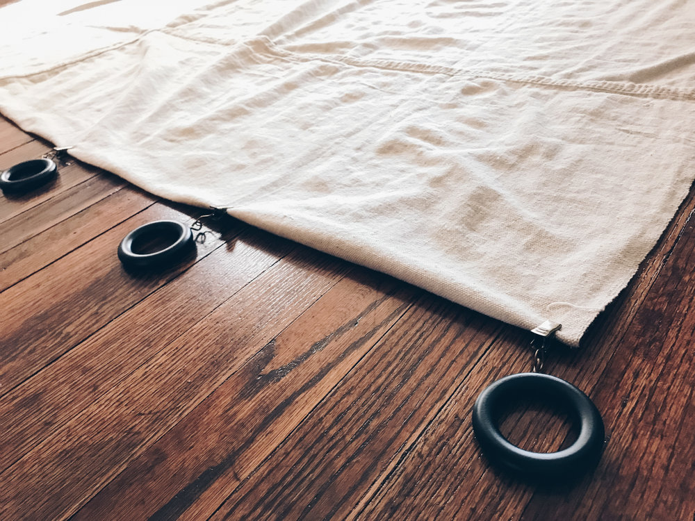 DIY: Canvas Drop Cloth Curtains