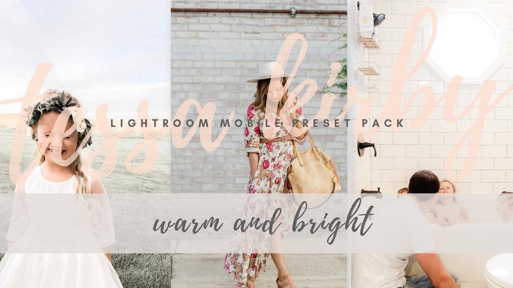 TK Lightroom Mobile Warm and Bright Preset
